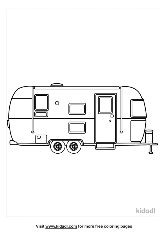 Camper Coloring Pages  Free Vehicles Coloring Pages  Kidadl