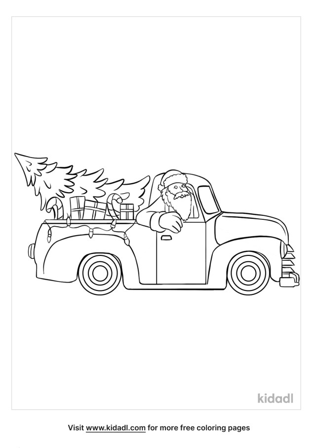 Christmas Truck Coloring Pages  Free Vehicles Coloring Pages  Kidadl
