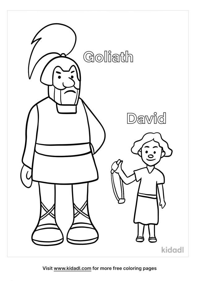 David And Goliath Coloring Pages  Free Bible Coloring Pages  Kidadl