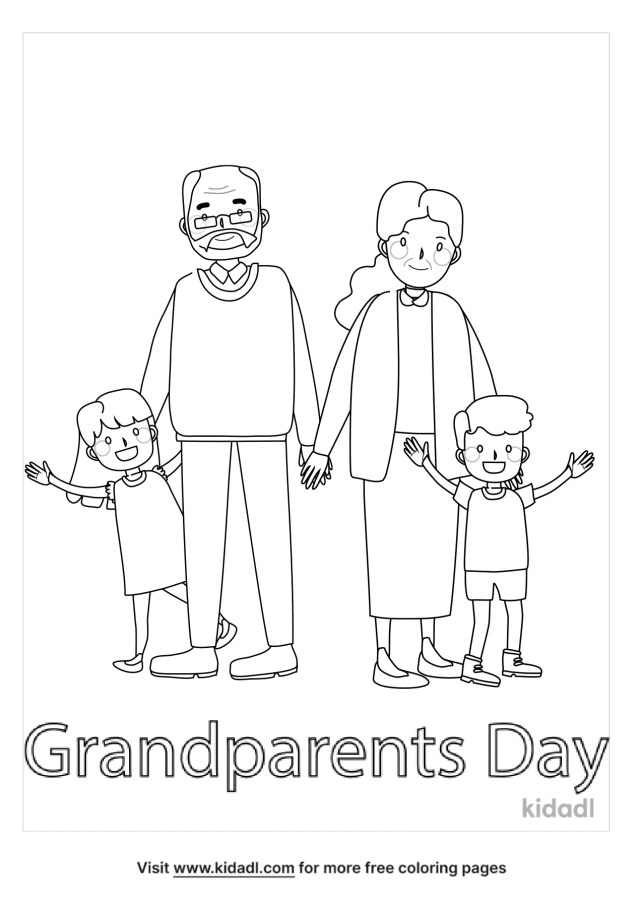 Grandparents Day Coloring Pages  Free People Coloring Pages  Kidadl