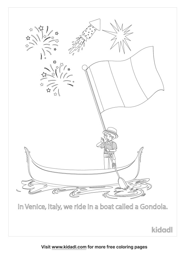 Italian Festival Coloring Pages  Free World, Geography & Flags