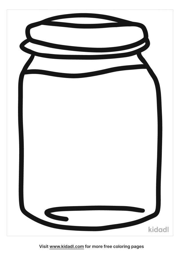Jar Coloring Pages  Free At Home Coloring Pages  Kidadl