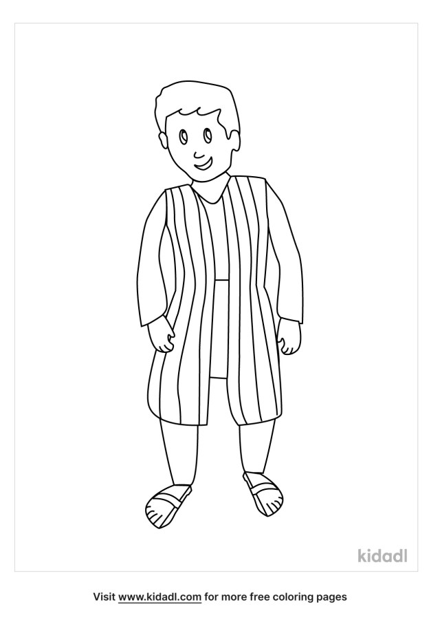 Joseph And The Coat Of Many Colors Coloring Pages  Free Bible