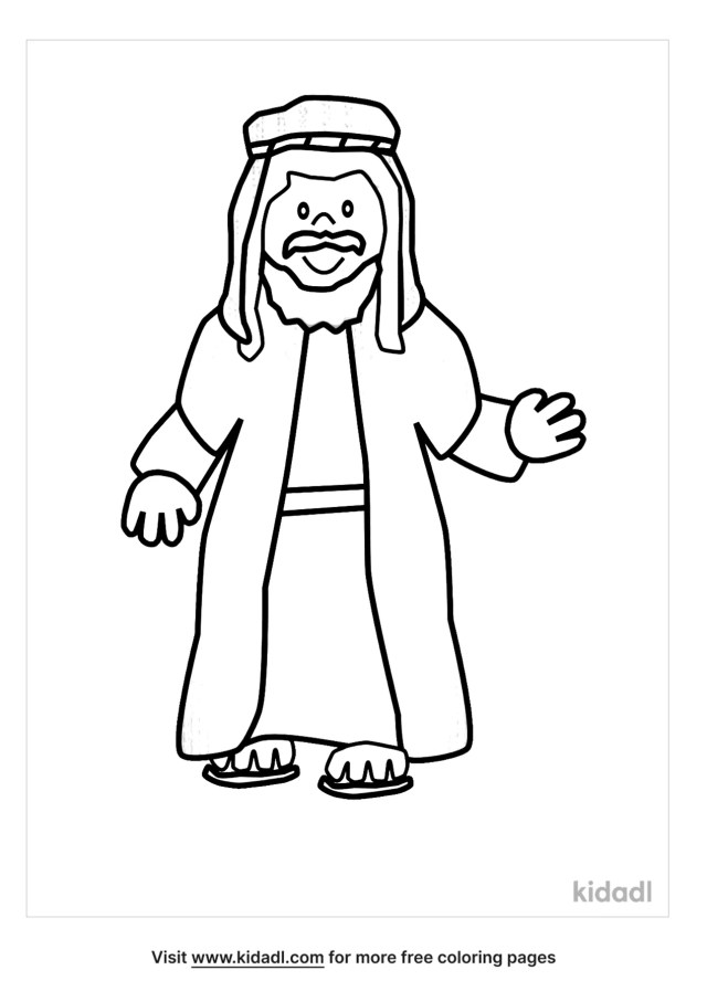 Man From The Bible Coloring Pages  Free Bible Coloring Pages  Kidadl
