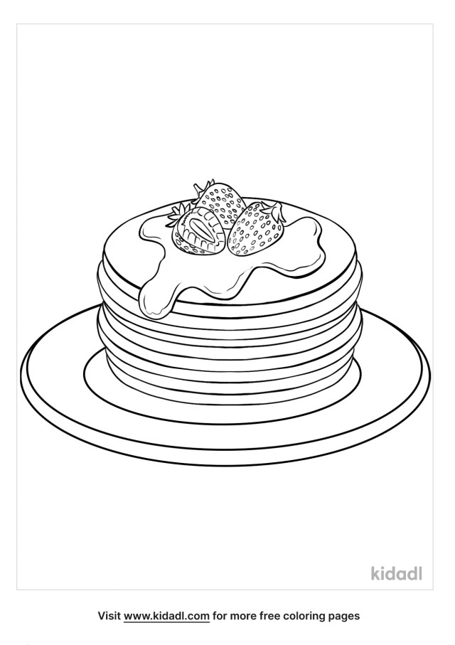 Pancake Coloring Pages  Free Food Coloring Pages  Kidadl