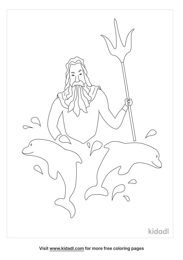 Poseidon Coloring Pages  Free People Coloring Pages  Kidadl