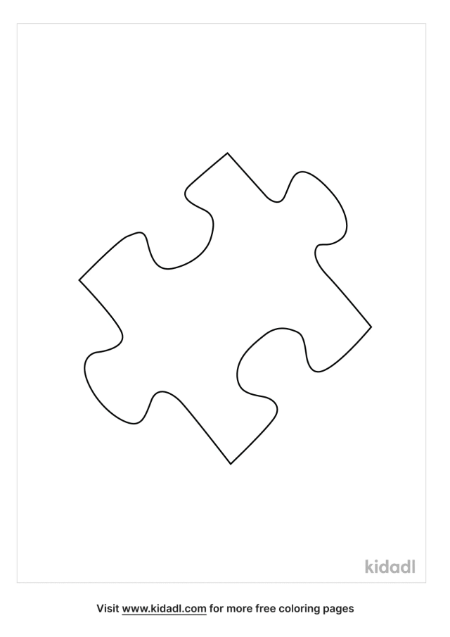 Puzzle Piece Coloring Pages  Free Toys Coloring Pages  Kidadl