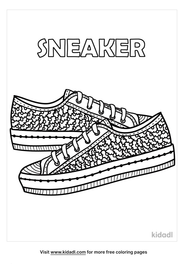 Sneaker Coloring Pages  Free Fashion & Beauty Coloring Pages  Kidadl