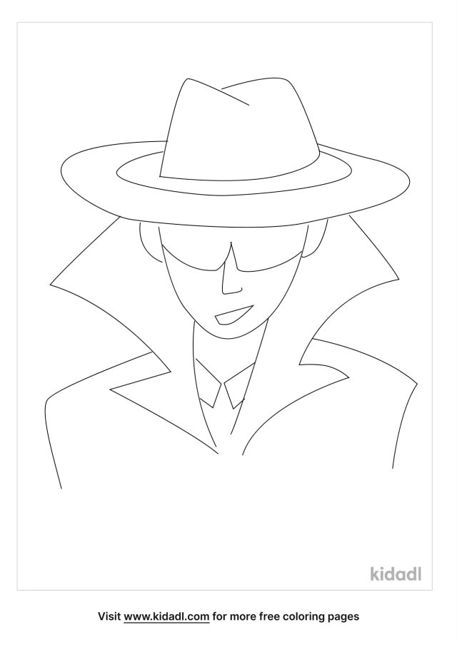 Spy Coloring Pages  Free People Coloring Pages  Kidadl