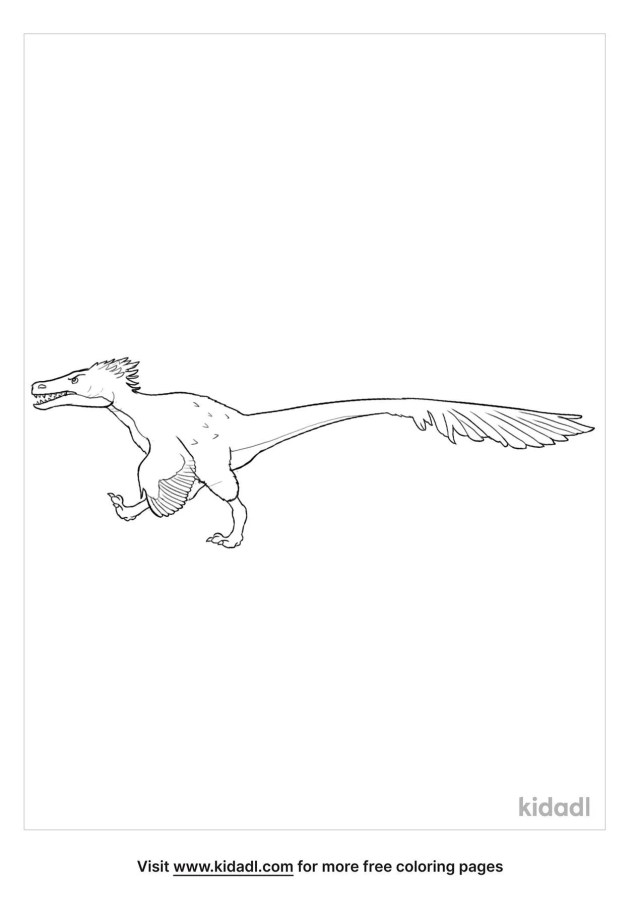 Utahraptor Coloring Pages  Free Dinosaurs Coloring Pages  Kidadl