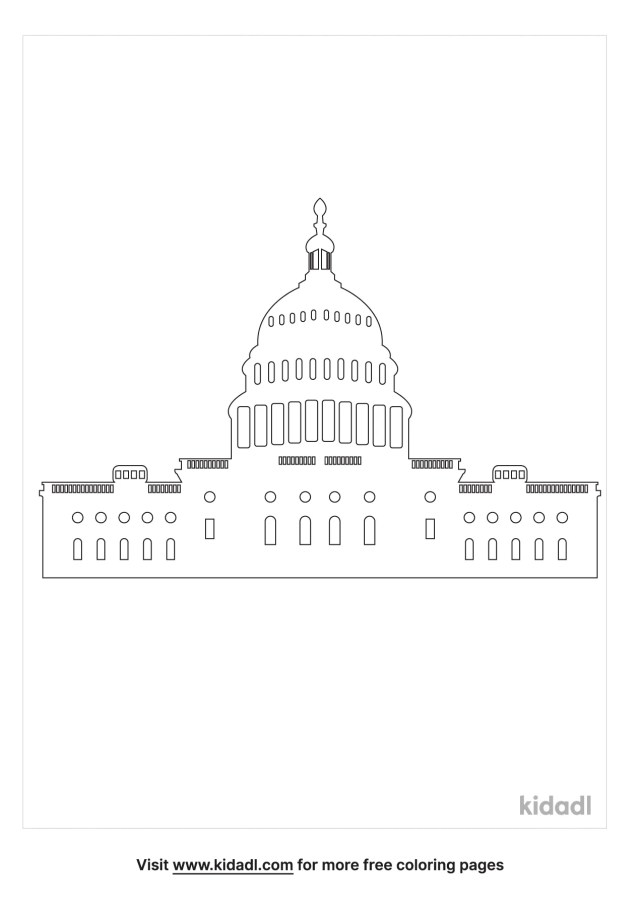 Washington Dc Coloring Pages  Free World, Geography & Flags