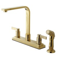 Kingston Brass KB8792NDLSP NuvoFusion Kitchen Faucet with ...