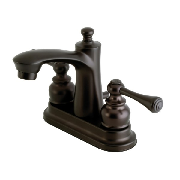 4 inch oil rubbed bronze bathroom faucets Kingston Brass FB7625BL 4-Inch Centerset Lavatory Faucet