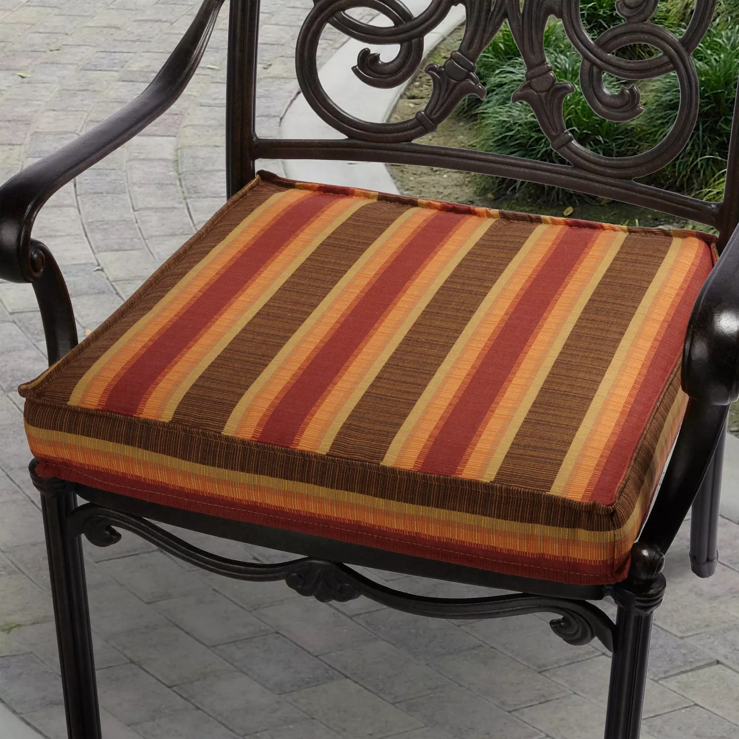 kohls outdoor chair cushions high back wing chairs sku klcs0958 mozaic sunbrella 19 in red striped cushion from