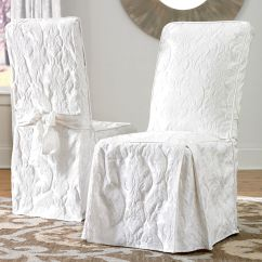 White Dining Room Chair Slipcovers Wedding Cover Hire Belfast Sure Fit Matelasse Damask Slipcover