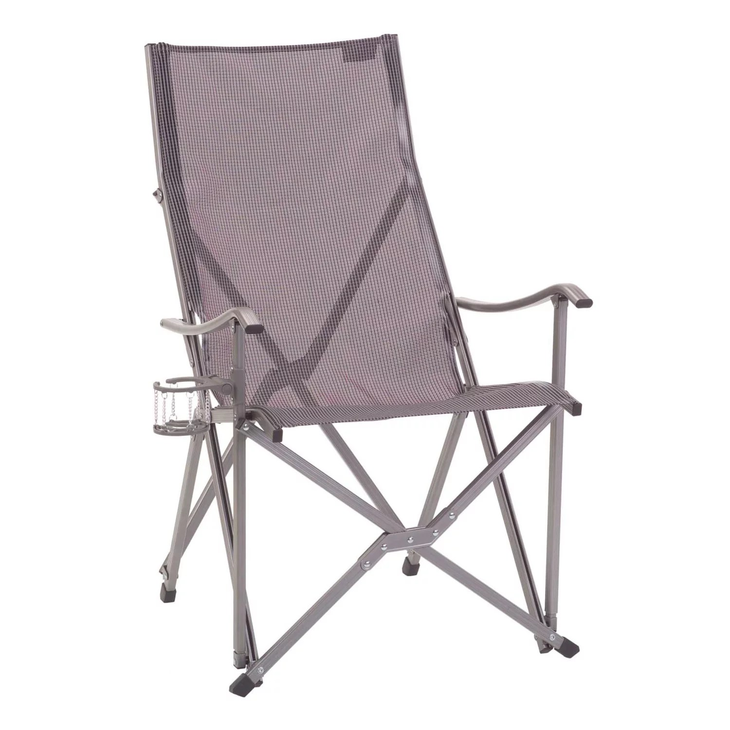 coleman folding chairs counter height swivel kohl s patio sling chair