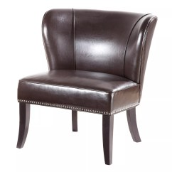 Brown Accent Chairs Faux Leather Chaise Lounge Chair Furniture Kohl S Madison Park Hilton