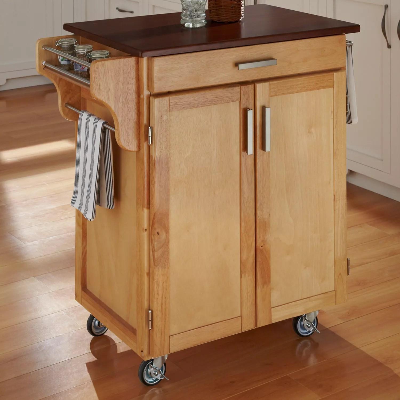 cherry kitchen cart decorative shelves top