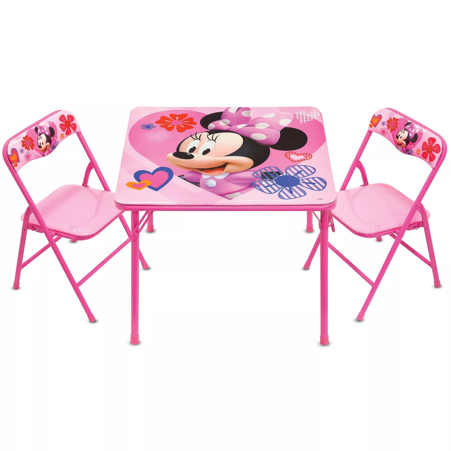 minnie table and chairs zaisu floor chair disney s mouse activity set