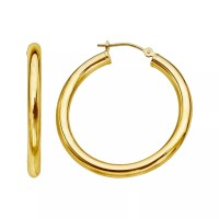 Yellow 14k Gold Hoop Earrings