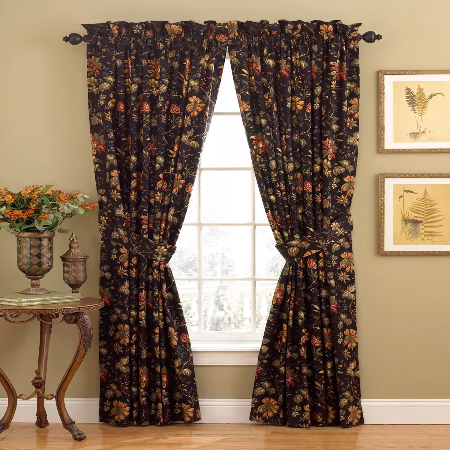 kitchen curtains kohls trash bin red drapes window treatments home decor kohl s waverly 1 panel felicite curtain 50 x 84