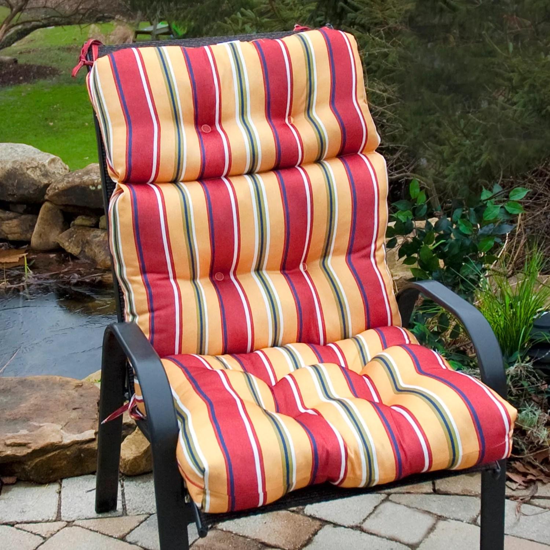 high back lawn chair cushions black covers wedding greendale home fashions outdoor cushion