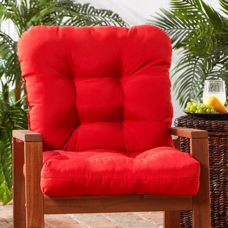 kohls outdoor chair cushions bumbo walmart red greendale home fashions patio pads decor seat back cushion tall