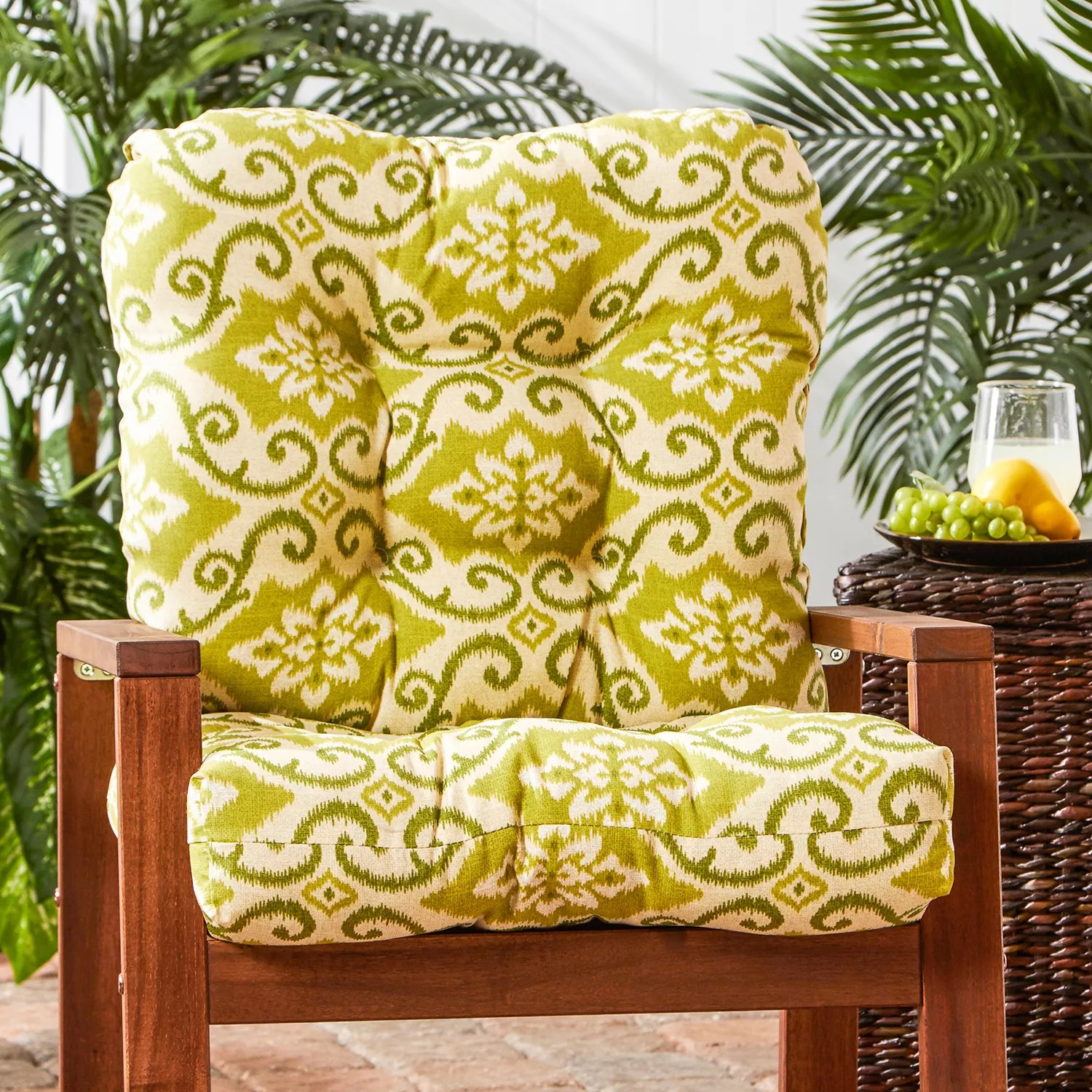 kohls outdoor chair cushions folding with shade kohl s greendale home fashions seat back cushion tall