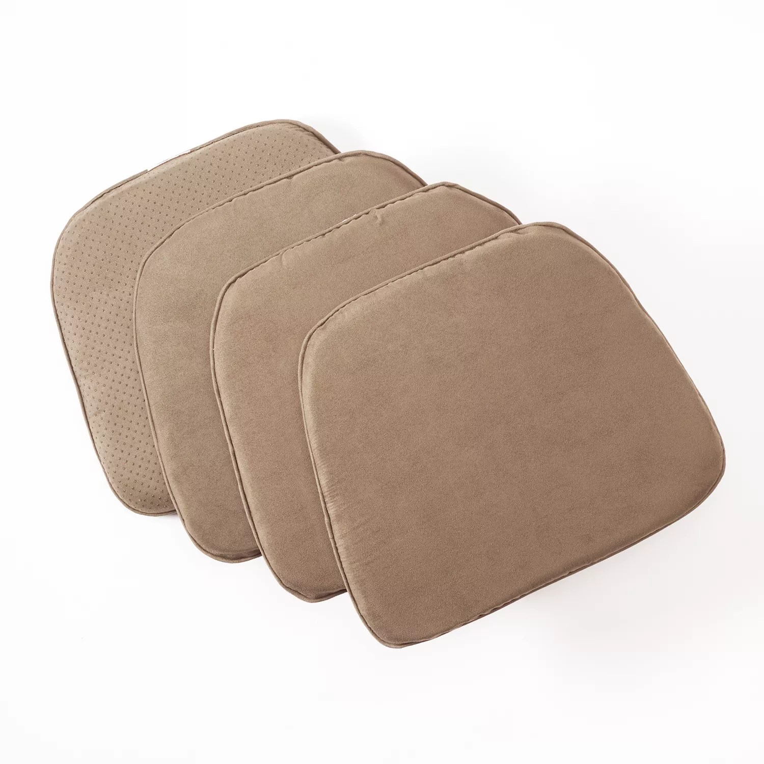 kohls outdoor chair cushions ikea gaming doeskin faux-suede 4-pk. pads