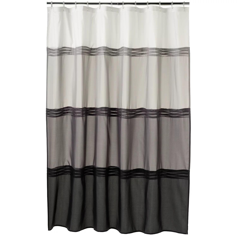 home classics black pintuck fabric shower curtain