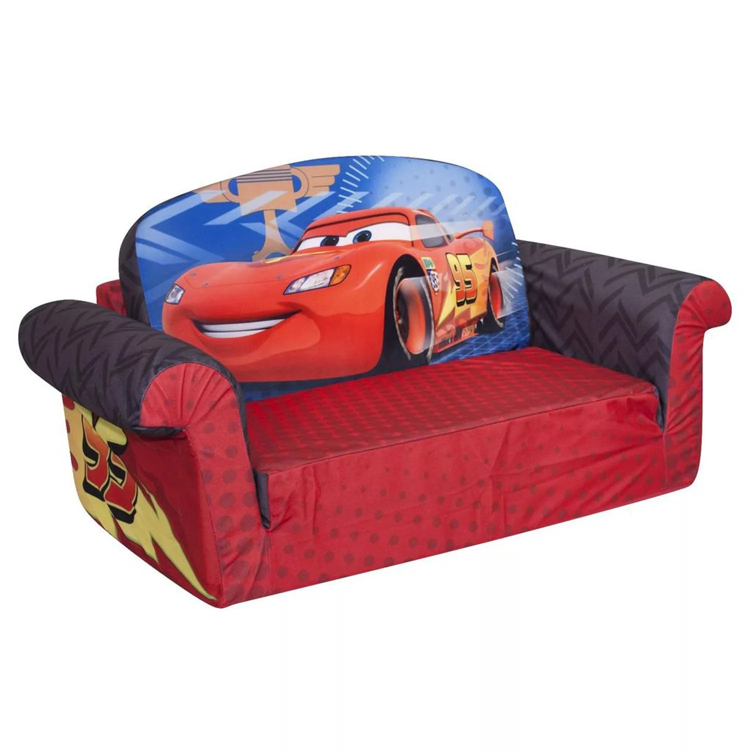 disney flip open sofa bed fabric malaysia supplier pixar cars marshmallow 2 in 1 kids by spin master