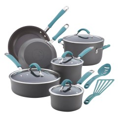 Rachael Ray Kitchen Tiles For Dining Kohl S Cucina 12 Pc Hard Anodized Nonstick Cookware Set