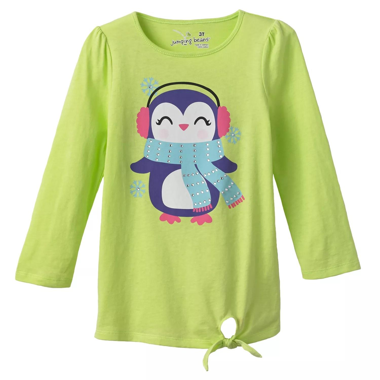 also jumping beans penguin babydoll tee toddler rh kohls