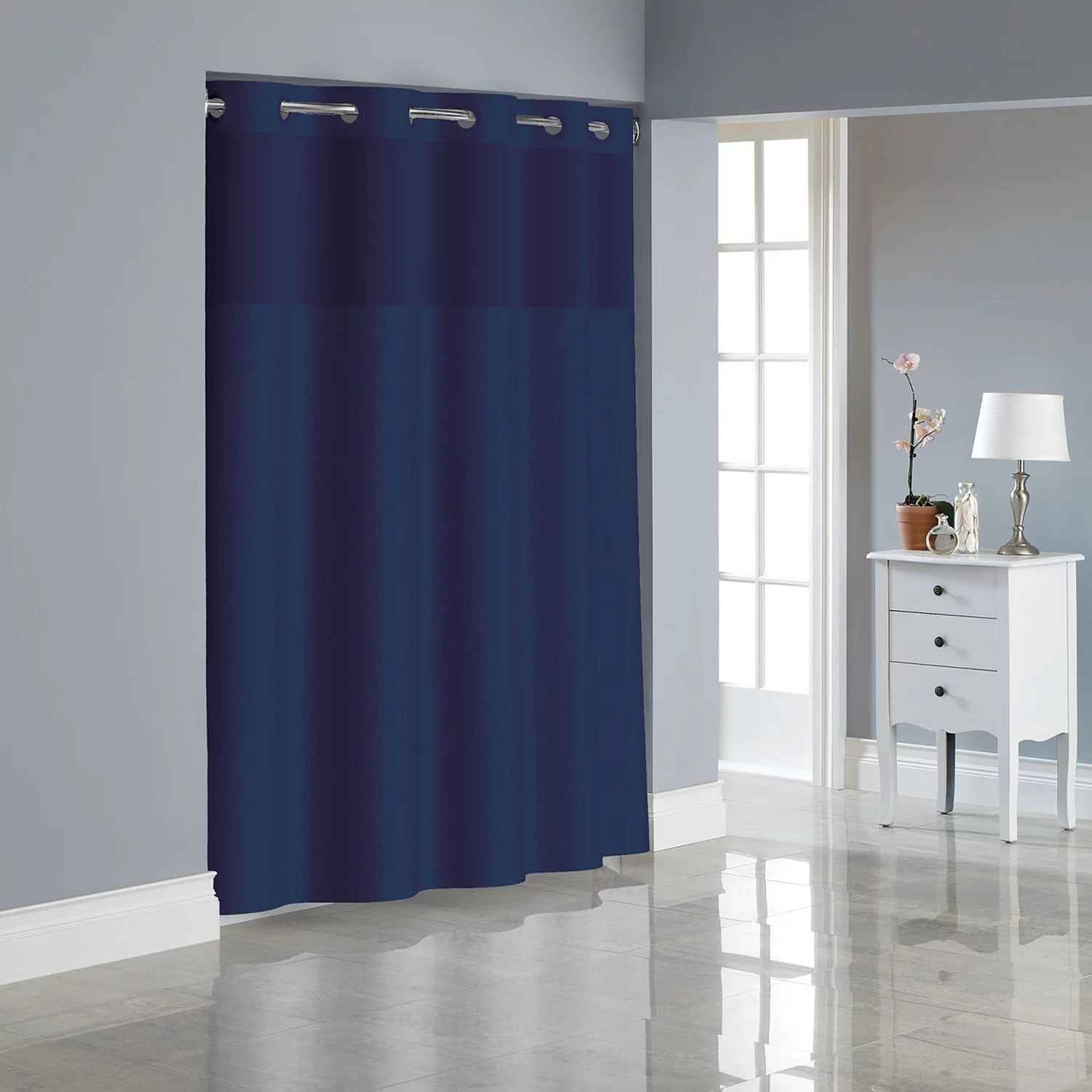 blue shower curtains shop accentuating