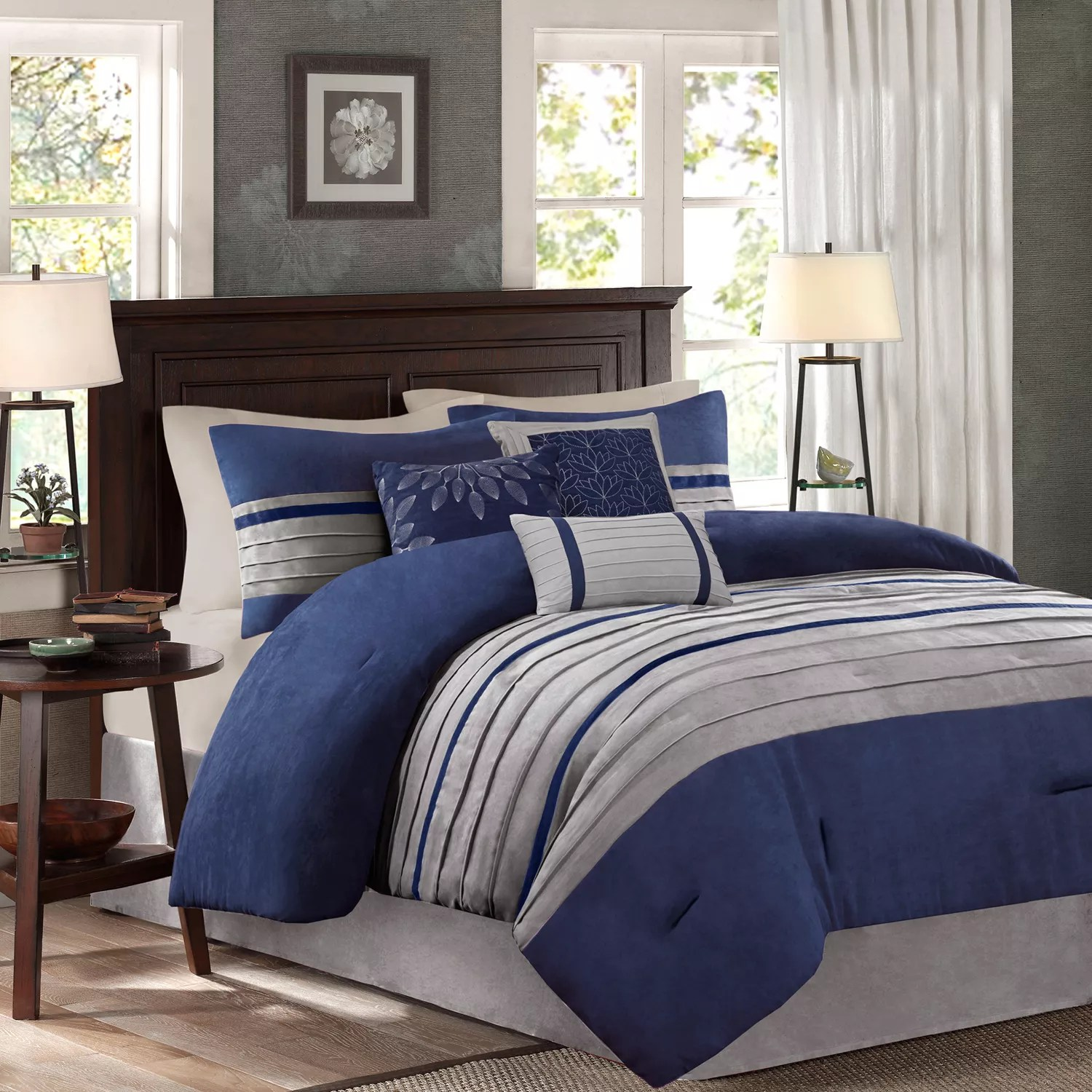 king blue comforters bedding bed