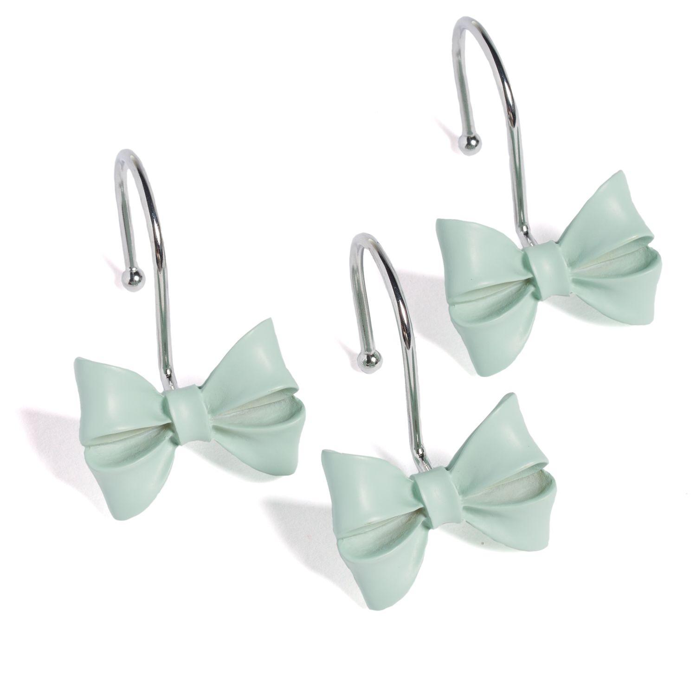 lc lauren conrad bow 12 pk shower curtain hooks