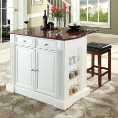 Crosley Kitchen Island Cool Tables Furniture 3 Piece Drop Leaf Counter Stool Set