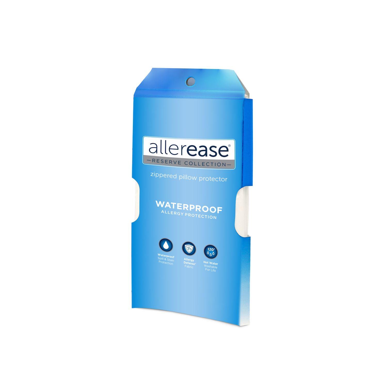 allerease waterproof allergy protection pillow protector standard queen
