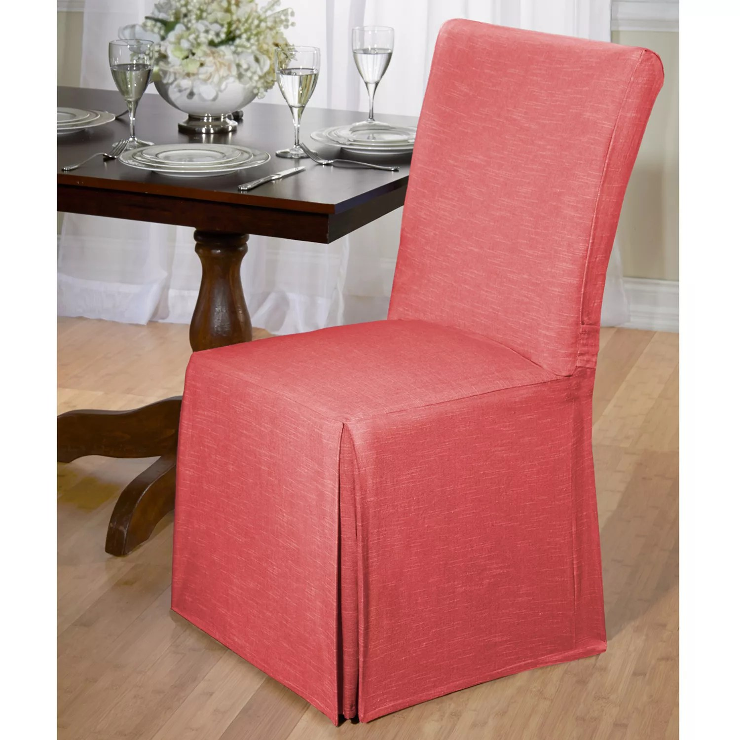 santa chair covers australia taupe slipcovers kohl s madison chambray dining room slipcover