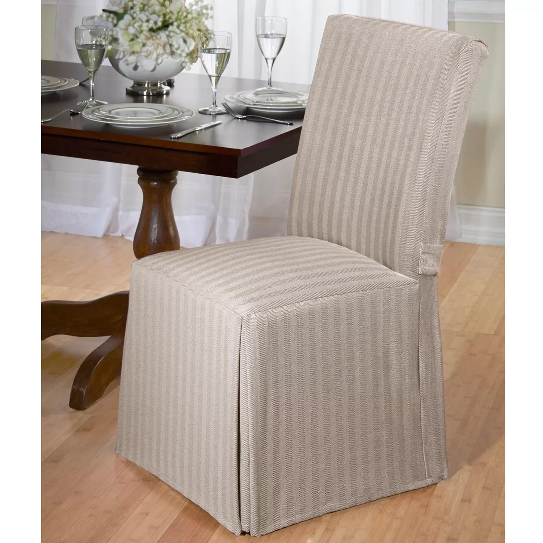 santa chair covers australia for wingback chairs slipcovers kohl s madison herringbone dining room slipcover