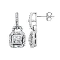 Diamond Essence Crystal & Diamond Accent Sterling Silver ...