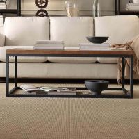 HomeVance Brynn Industrial Rustic Coffee Table   null