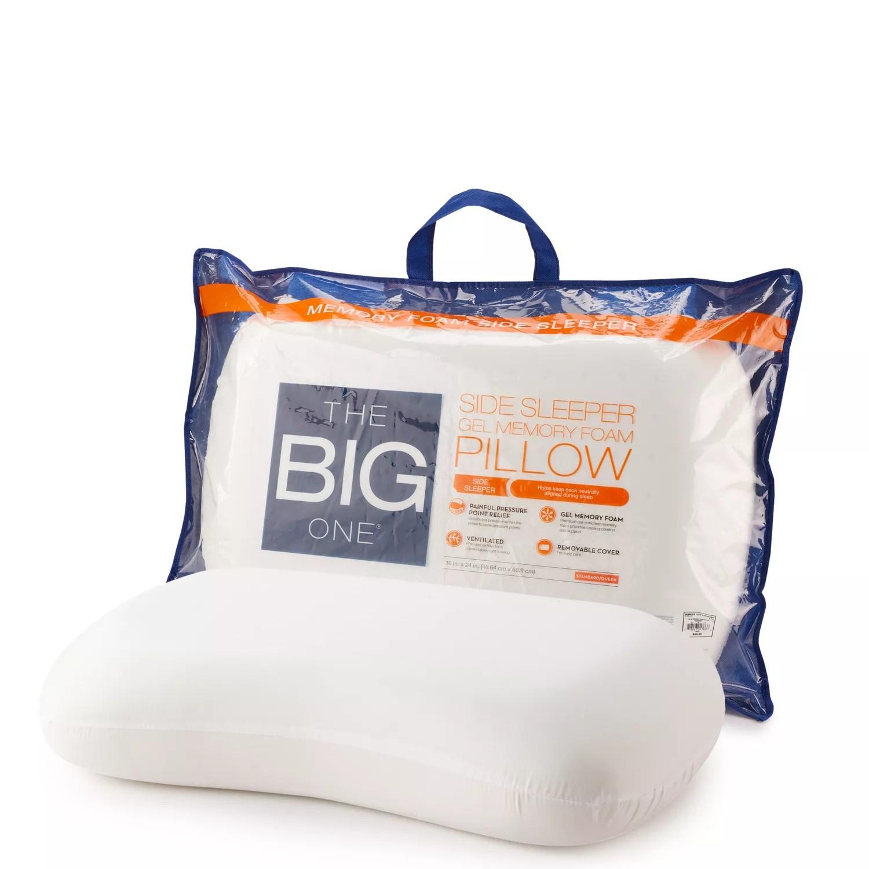 the big one gel memory foam side sleeper pillow
