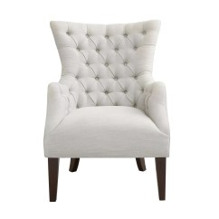 Accent Wingback Chairs Outdoor On Sale White Furniture Kohl S Madison Park Isa Button Tufted Wing Back Chair