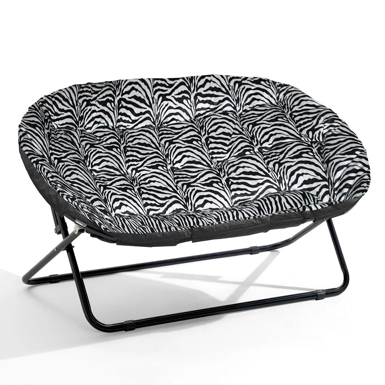 double saucer chair black round back chairs urban shop zebra royal plush