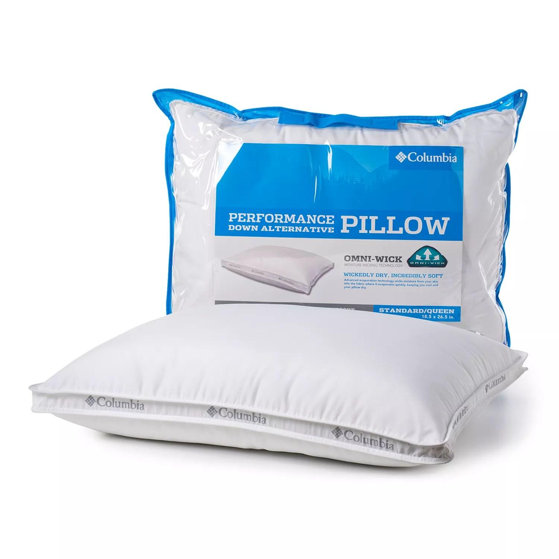 columbia performance down alternative pillow