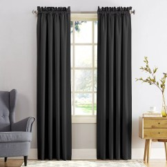 Kitchen Curtains Kohls Diy Cabinet Refacing Black Drapes Window Treatments Home Decor Kohl S Sun Zero 1 Panel Gramercy Room Darkening Curtain
