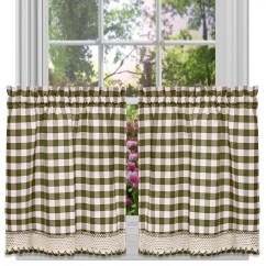 Kitchen Curtains Kohls Wall Art Green Drapes Window Treatments Home Decor Kohl S Buffalo Check Tier Curtain Set