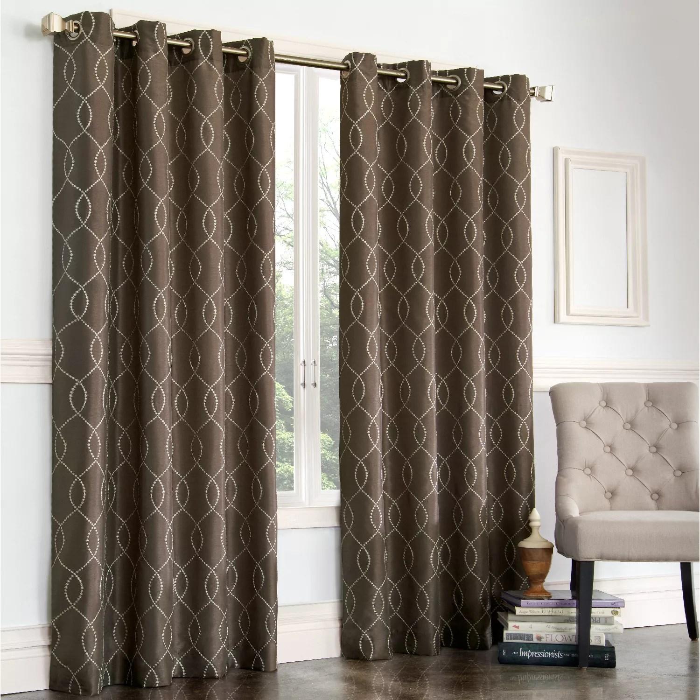 Brown Fabric Shower Curtain  Kohls