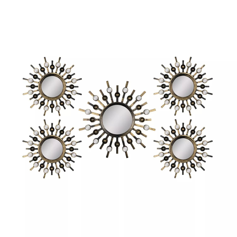 Stratton Home Decor Sunburst Mirror Metal Wall Art 5 Piece Set